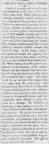 Juniata Sentinel [PA] 19 June 1867 frogs