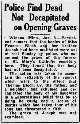 bloch 3 Great Falls Tribune January 09, 1922