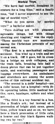morbid toys The Evening statesman., December 31, 1906