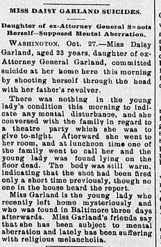 Daisy Garland The Roanoke Times October 28, 1893