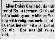 Daisy Garland Watauga Democrat November 09, 1893